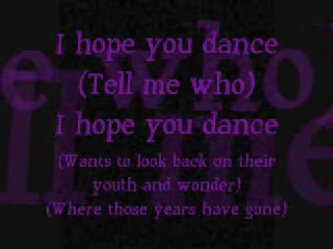 I Hope You Dance Lyrics