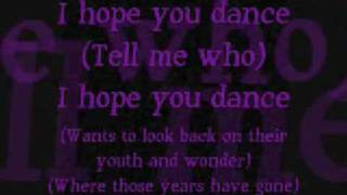 I Hope You Dance Lyrics thumbnail