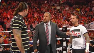 Triple H sets a match between CM Punk and Kevin Nash: Raw, August 29, 2011