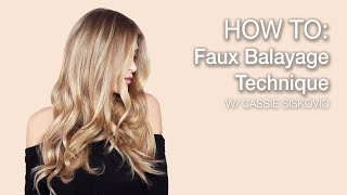 HOW TO: Faux Balayage Technique | Kenra Color