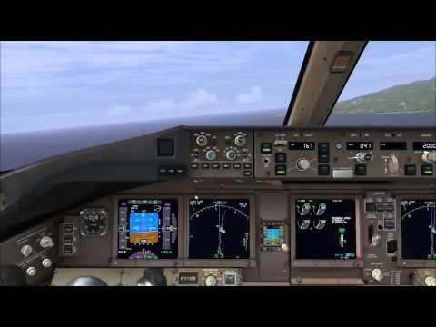 Landing at Pape'ete, Tahiti, French Polynesia - FSX - PMDG 777-300ER