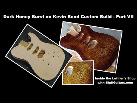 Dark Honey Burst on Carved Top Tele - Kevin Bond Custom Build Part VII