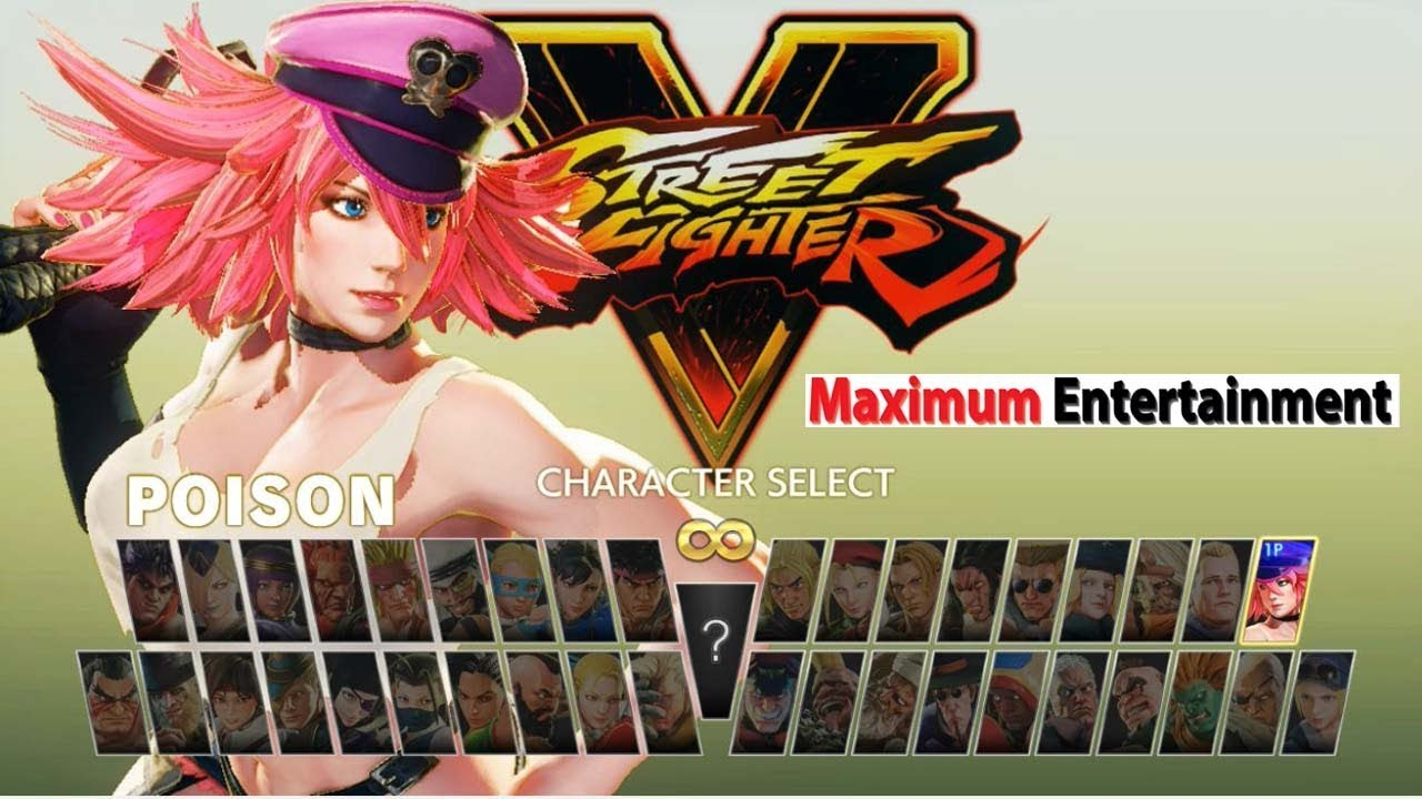 Street Fighter 5 Arcade Edition All Mode Characters Selection