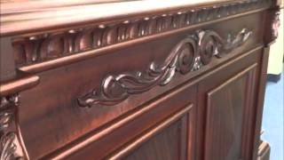 Belvedere Hand Carved Mahogany Tv Lift Furniture Cabinet