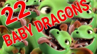 ALL BABY DRAGON RAID! | 22 BABY DRAGON ATTACK! | Clash of Clans #7