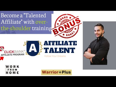 Affiliate Talent Review | Exclusive BONUS included | Affiliate Marketing Guide for Beginners!