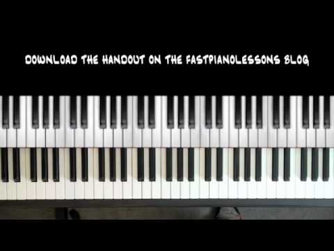 Piano 12 piano chords : Easy Blues Piano Lessons - 12 Bar Blues in C - 8th Note Boogie ...