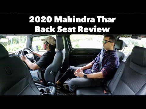 2020 Mahindra Thar SUV - Back Seat Drive Review