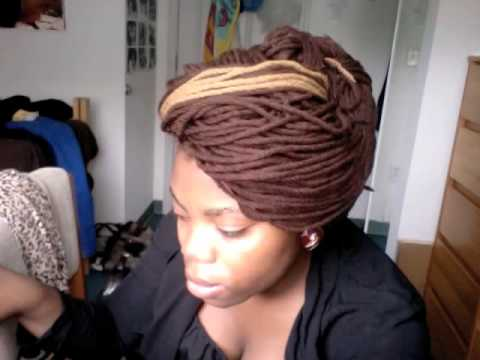 Blissful Braids Long Brown Gold Yarn Twists Youtube