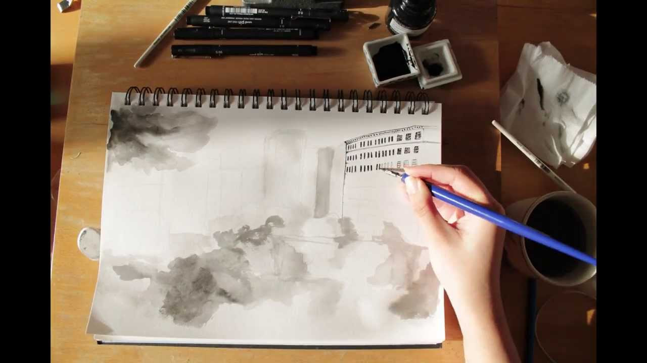 500 days of summer timelapse drawing youtube for Architecture drawing 500 days of summer