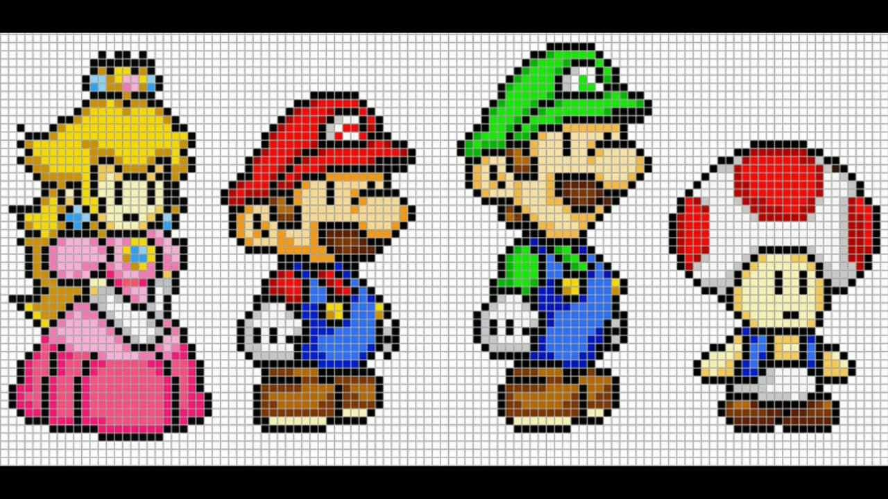 pixel art mario youtube