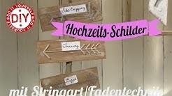 How to: Wegweiser-Schilder mit Stringart I Hochzeit I Deko Inspirationen selbstgemacht
