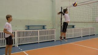 Волейбол обучение. Дети. Нападающий удар.