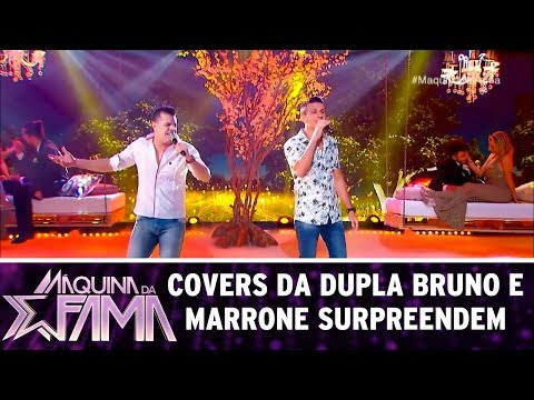 Covers da dupla Bruno e Marrone surpreendem | Máquina da Fama (10/07/17)
