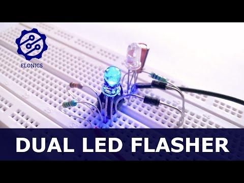 555 timer circuits flashing led funnydog tv