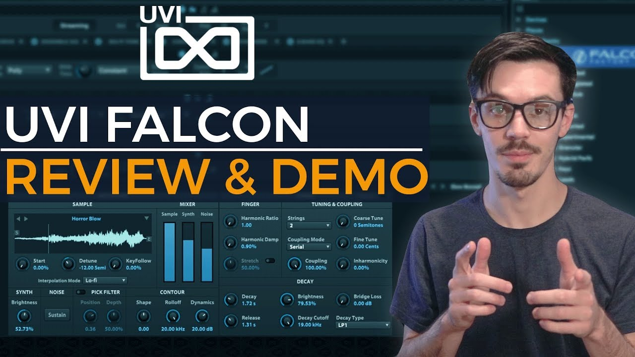 uvi falcon review demo the ultimate vst review gear sound demo youtube. Black Bedroom Furniture Sets. Home Design Ideas