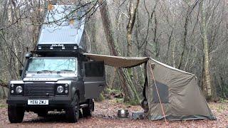 Land Rover Defender Camper & Oztent Setup