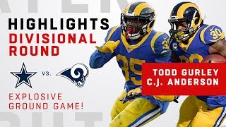 Dynamic Duo Gurley & Anderson BOTH Get Over 115 Rushing Yards!!!