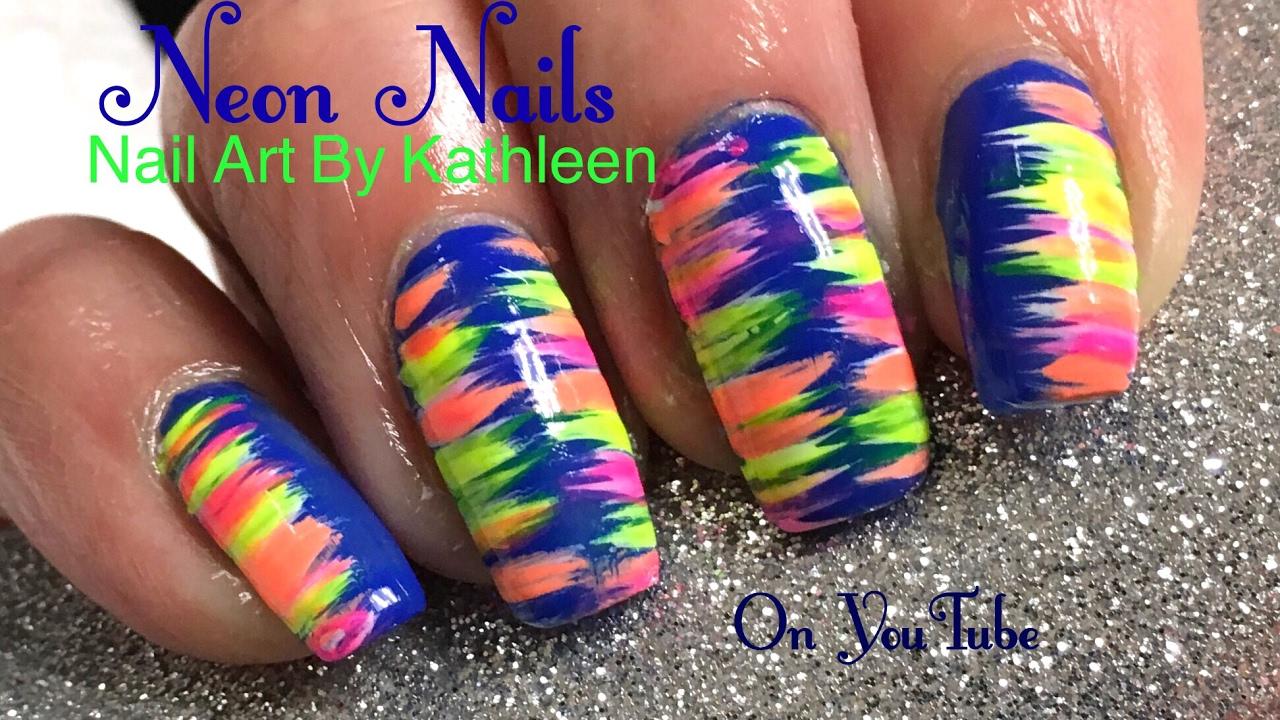 Easy Nail Art - Neon Nails - YouTube