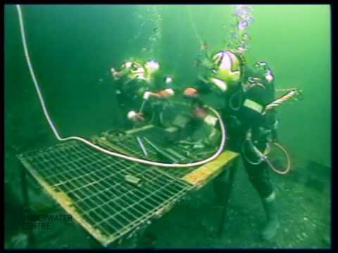 ROV Diver Observation of commercial diver underwater welding