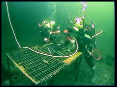 ROV Diver Observation of commercial diver underwater welding