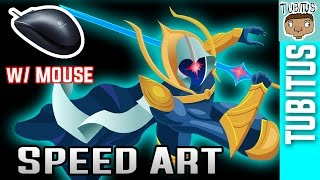 Drawing COSMIC BLADE MASTER YI Speed Art WITH A MOUSE / League of Legends speed draw and painting