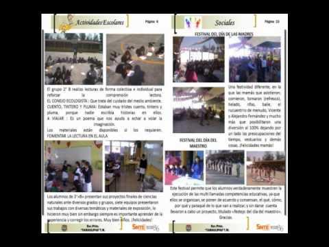 Periodicos escolares primaria tamaulipas youtube for Estructura de un periodico mural escolar