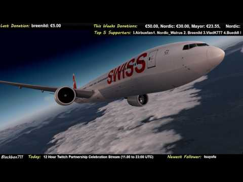 [P3D] Swiss B777 Engine Failure and Diversion to Iqaluit