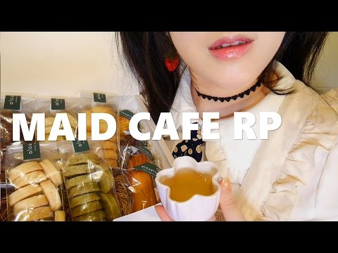 (SUB) ASMR Korean MAID CAFE RP ☕️ 메이드카페