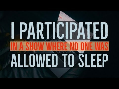 ''I Participated in a Show where No One was Allowed to Sleep'' | EPIC NEW EXPERIMENT CREEPYPASTA!