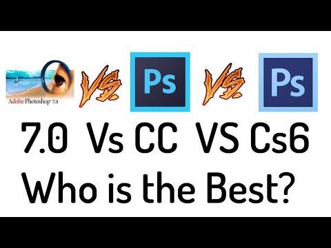 Who is the Best Photoshop ( 7.0 vs CC vs CS ) in Hindi / Urdu.