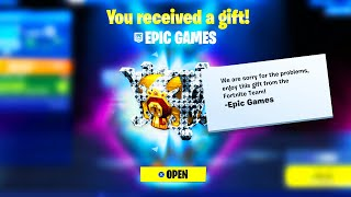 ACCEPT YOUR GIFT From Fortnite! *THANKS EPIC*