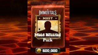 Most Wanted Pack Opening! WWE Immortals! IOS/Android