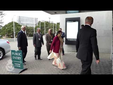 Indian Speaker arrives at New Zealand Parliament