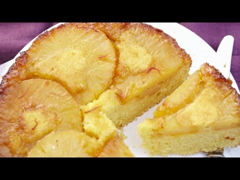 recette-:-gâteau-à-l'ananas-frais-caramel-et-safran