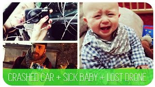 CRASHED CAR + SICK BABY + LOST DRONE :( | HANNAH MAGGS AD Thumbnail