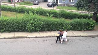 Lawrence.Ma girls fight in front of the kid and right a cross the street from my house