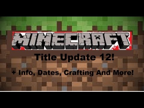 Minecraft xbox title update 12 information crafting for Minecraft xbox one crafting recipes