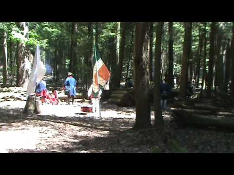 French & Indian War battle reenactment at Cook Forest State Park