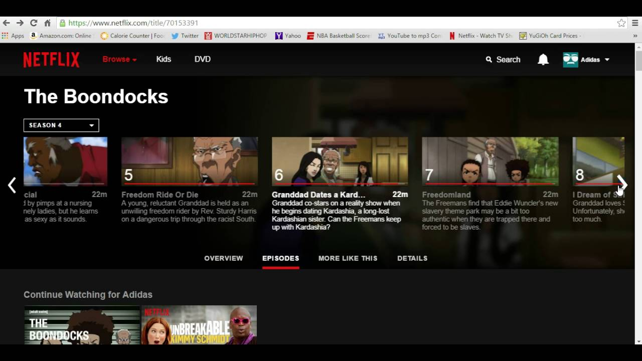 Is boondocks on netflix