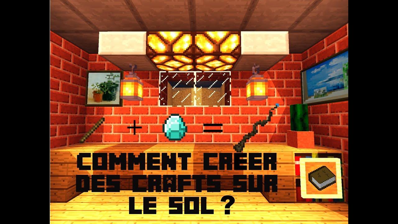 Comment faire un craft sur le sol en commande ? | Tuto Minecraft MCPE - YouTube
