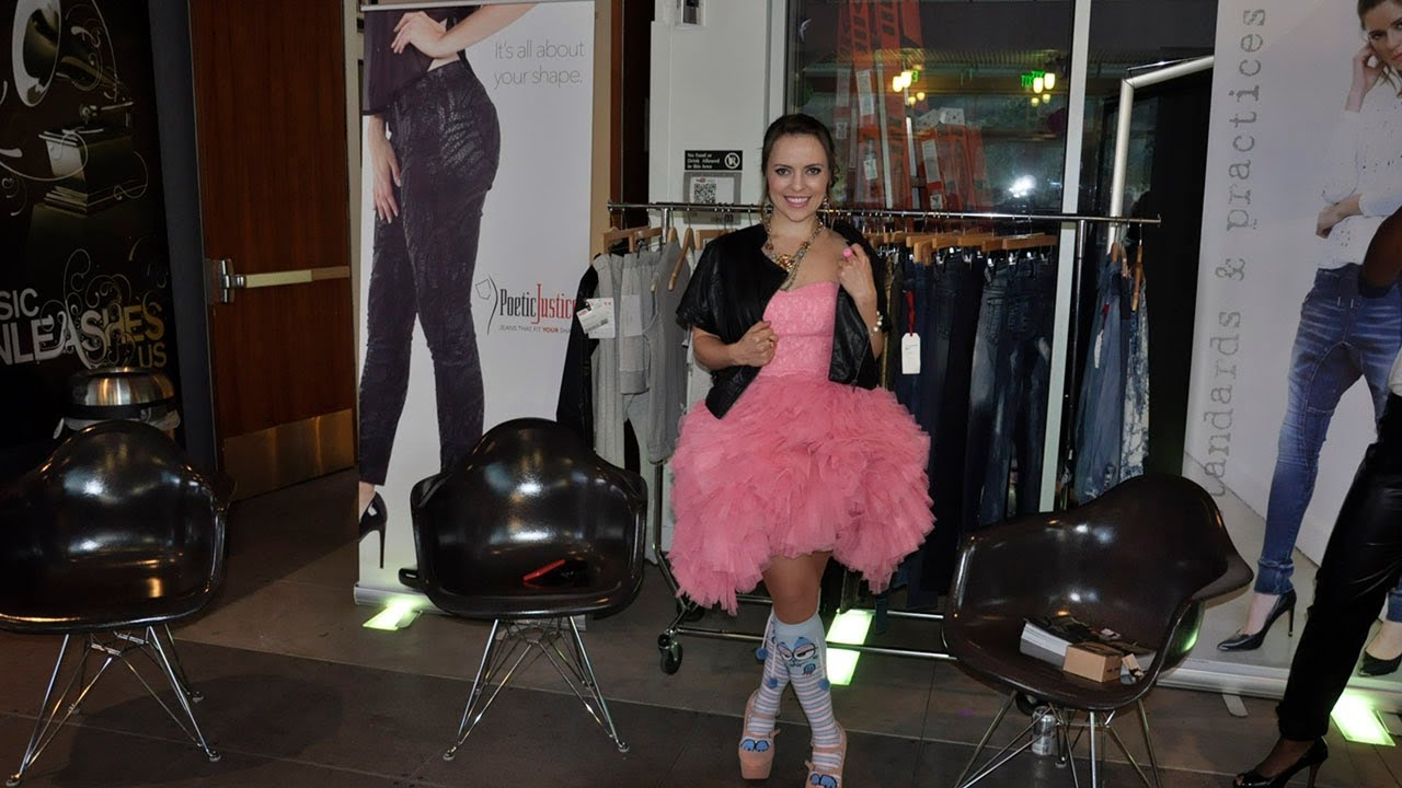 olga kay with poetic justice jeans at moosh walks launch party youtube