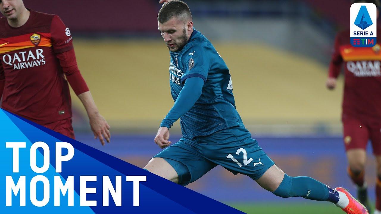 Rebić nets the winner for Milan! | Roma 1-2 Milan | Top Moment | Serie A TIM