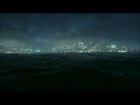 Batman: Arkham Knight (ASMR/Sleep Aid) Gotham by The Sea - Ambient Sounds