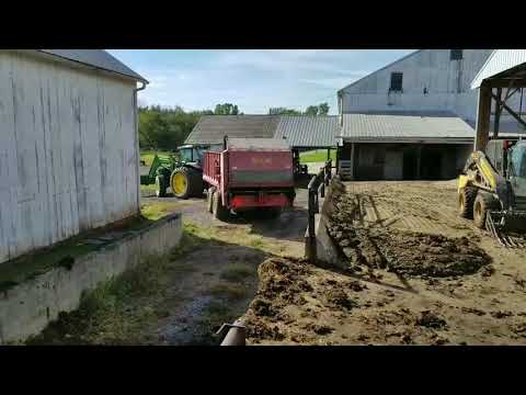 Spreading manure and bedding cattle part 2