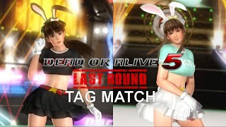 Dead or Alive 5: Last Round (PS4) - Tag Match Gameplay (Hitomi and Leifang)