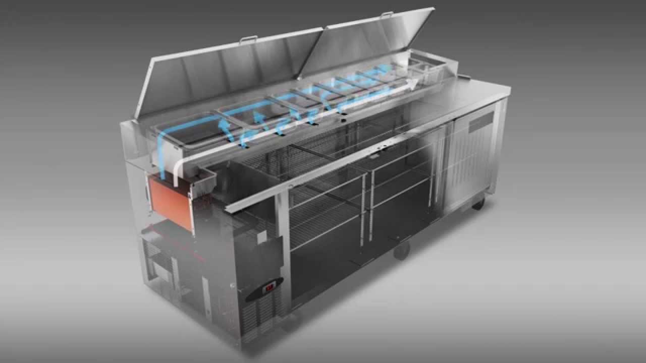 Hoshizaki Pizza Prep Table Refrigeration Airflow - YouTube