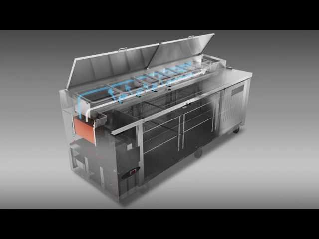 Hoshizaki Pizza Prep Table Refrigeration Airflow