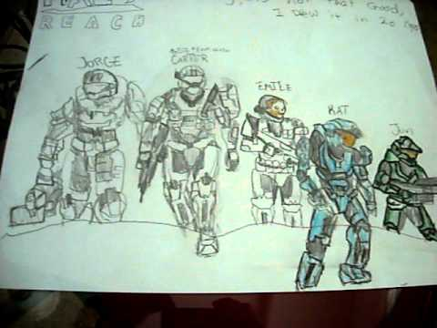 Easy halo reach drawings