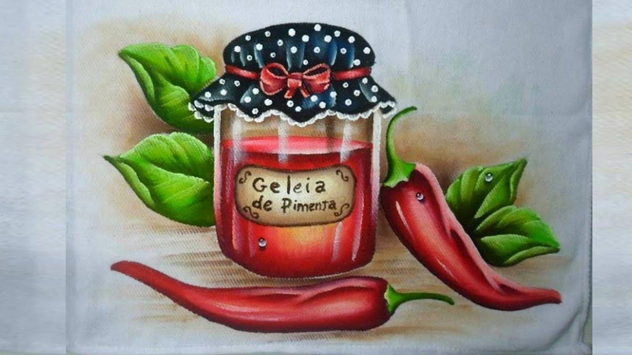Pintura Em Tecido Como Pintar Geleia De Pimentas E Pimentas